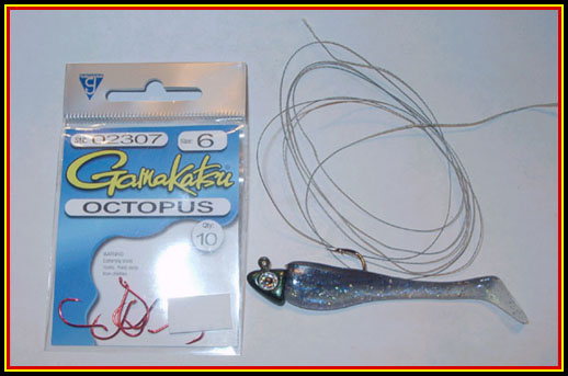 swimbait - how to trap rig a big hammer swimbait - by brian, Fly Fishing Bait